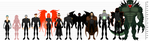Federal Guard Lineup and Height Comparison by BSDigitalQ