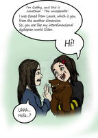 Laura (Logan) and Gabby -first meet by james2work