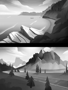 National Parks Black and White by MaximalGFX