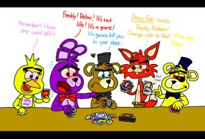 FNAF Plays UNO by AngryBirdsStuff