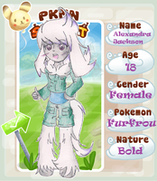PKMN-Street App = Alex the Furfrou by CinnamonCreampuff