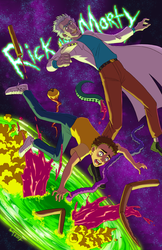 Rick and Morty fanart by Gusana