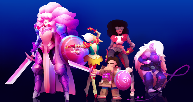 Crystal Gem Knights by Art-Calavera