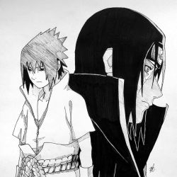 Itachi and Sasuke by artxnoa
