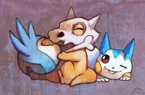 Cubone and Pachirisu