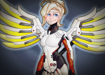 Overwatch Speed Paint Request: Mercy! by AroojBasit