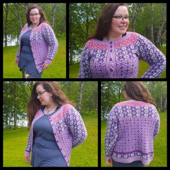 Ventetid - stranded colourwork advent cardigan by KnitLizzy