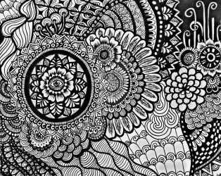 zentangle by aoiblue02