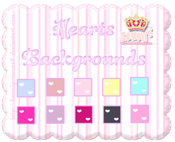 Cute Hearts Backgrounds by kawaiiprincess2