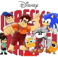 wreck it ralph,sonic and InaC by inacmaster