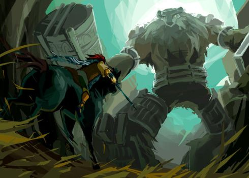 Shadow of the Colossus by nargyle