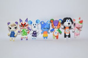 Animal Crossing Characters [Group shot] by lyssacrafts
