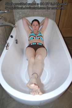 Deep Perspective Tub Bath Pose Figure Model Ref by SenshiStock