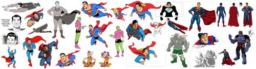 Superman 75 key poses by dusty-abell