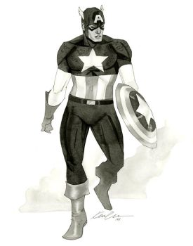 Captain America - HeroesCon 2014 sketch by kevinwada