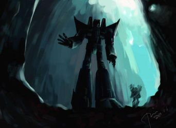 Starscream and Skyfire by Seventing