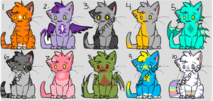 Cheap Feline Point Adoptables!!! OPEN by IndigoCascade