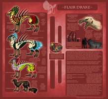 Flair Drake Species ref Sheet by Jeep-The-Dragon