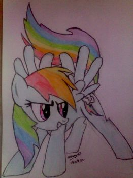 Rainbow Dash by The-Krazy-One