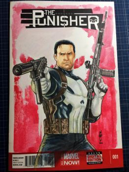 The Punisher blank cover by Thegerjoos