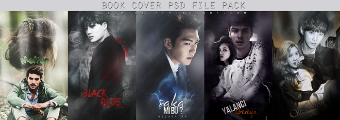 Book Cover Psd File Pack 4 by Tekmile