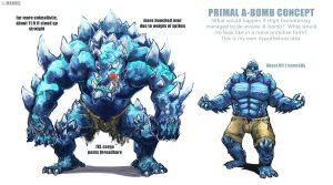 Colour Study: Primal A-Bomb by aokamidu