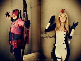 Hawkeye and Mockingbird - Okay... by FioreSofen