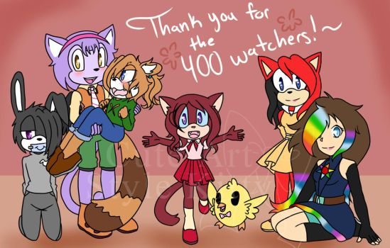 400 Watchers (Thank You) by CuteArtStyleKitty