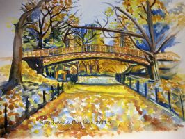Central Park Watercolour by Spangledstars