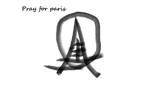 Pray For Paris by 1popenamoon