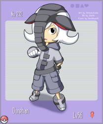 Another Gijinka: Donphan by CubeWatermelon