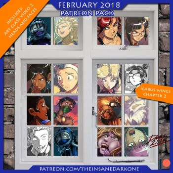 Patreon February 2018 art pack now available! by TheInsaneDarkOne