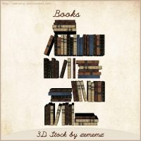 3D Books by zememz