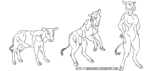 LSC: Cow to Anthro Cow by JakkalWolf