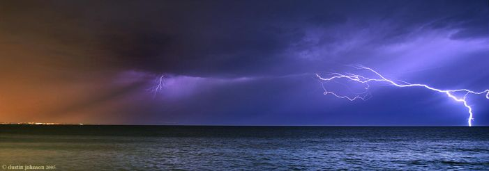 Lightening Over Malibu by existentialistic
