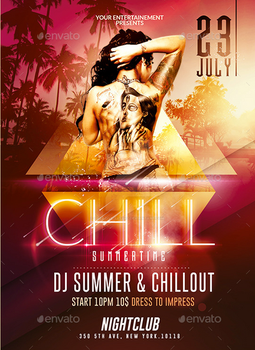 Summer Chill out | Psd Flyer Template by creative-flyerz on
