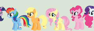 Future Mane Six My Way by XxDipperKittyXx