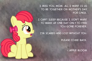 Apple Bloom's Mother's Day Plea by postcactus
