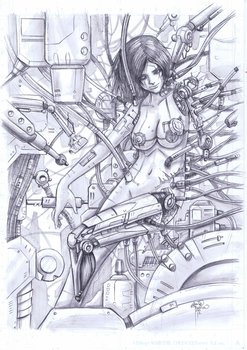 Battle Angel Alita Pencil by sykoeent