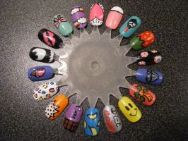 3 nail art wheels by kimmmy on deviantart nail art wheel 1 by kimmmy prinsesfo Image collections