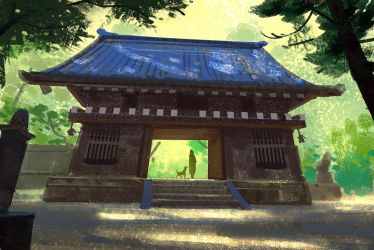 Ancient Shrine 2 by Hideyoshi