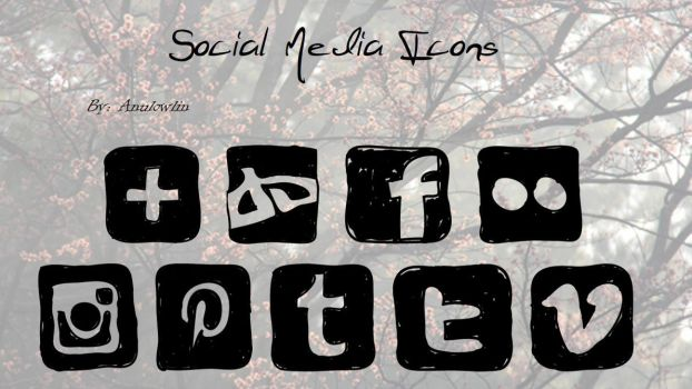 Social Media Icons Pack 10 by Anulowlin