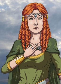 Banner Saga - Lady Alette, Surprised by DeathbyChiasmus