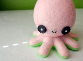 Pink and green octoplushie by jaynedanger