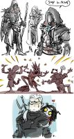The Witcher 3, doodles 40 by Ayej