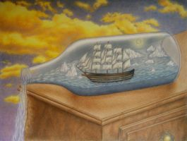 Ship in a Bottle. by AubreesPassions