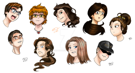 C: Many Busts! by NikiAurore