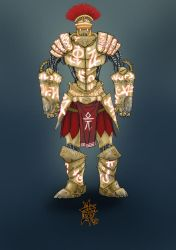 Rune-carved Clockwork Golem by TravTheMad