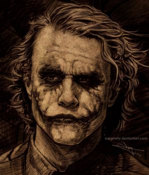 The thinking Joker by aaronwty