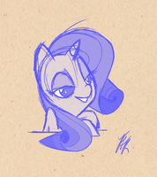 Rarity Sketchins by FluttershytheKind